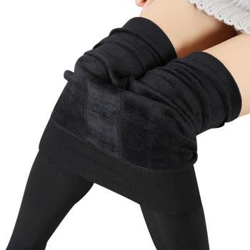 2019 New Fashion 8 Colors Winter Leggings Women's Warm Leggings High Waist Thick Velvet Legging Solid All-Match Sexy Leggings 1