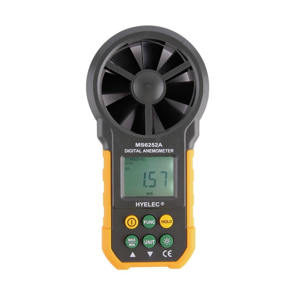 1pcs  LCD Digital Anemometer Wind Speed Meter Air Flow Tester Backlight HYELEC Wholesale hot  цены