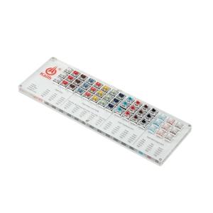 Image 5 - مفاتيح Kailh 45 مفتاح انظار لوحة المفاتيح الميكانيكية تشوك فاحص عدة كابس شفافة واضحة لأداة اختبار قبعات العينات