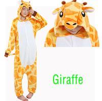 Flannel Giraffe Pajamas New Couple Winter Cute Soft Giraffe Onesies