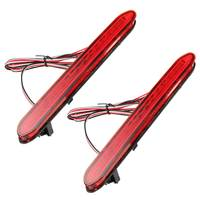 2Pcs Red Rear Bumper Reflectors Light Brake Parking Warning Night Runing Tail Lamps LED For Honda