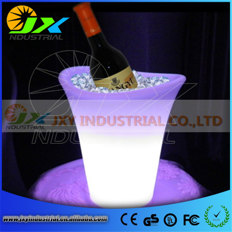 Free Shipping 5L LED Colour Changing Ice Bucket Champagne Wine Drinks Cooler Retro Party Xmas free shipping color changeable large quadrange seau a champagne bucket led multicolor led ice bucket remote controller adapter