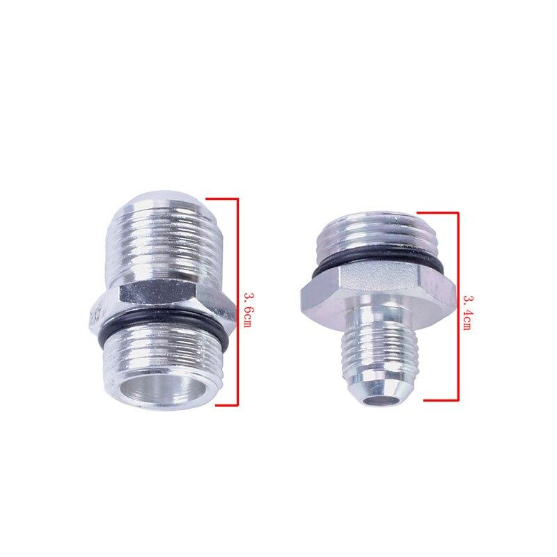 Kit de filtre à essence en ligne de carburant en aluminium SPEEDWOW filtre à carburant à haut débit adaptateur de raccords AN10/AN8/AN6 avec support de pompe à carburant - 6