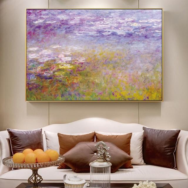 US $3.64 30% OFF|Monet Seerosen Gemälde Auf Die Wand Impressionist Berühmte  Malerei Reproduktion Blume Leinwand Bilder Für Wohnzimmer Decor in Monet ...