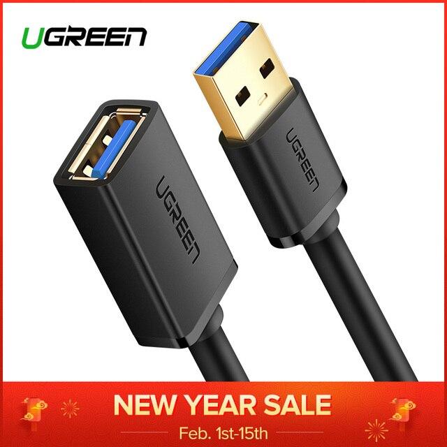 Ugreen USB Mở Rộng Cáp USB 3.0 Cable đối với Thông Minh TV PS4 Xbox Một SSD USB3.0 2.0 để Mở Rộng Dữ Liệu Dây mini USB Cáp Mở Rộng