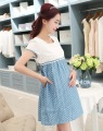 2017 Korean maternity dresses fashion Women denim dress denim pregnant dress pregnancy clothes