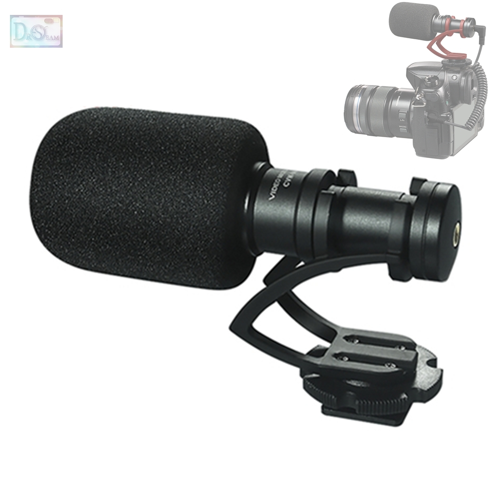 COMICA Mini Cardioid Directional Video Microphone with Shock Mount for DJI OSMO Sony A7 A7RII A7SII