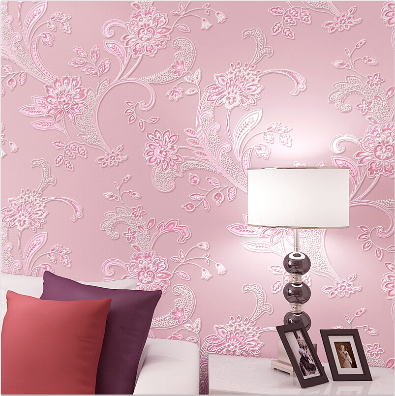 New products listed 3D three dimensional non woven wallpaper warm ...