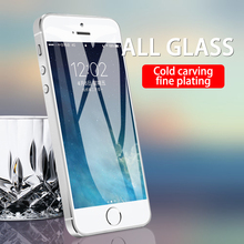 Protective Tempered Glass For iPhone 4 iPhone 5 Anti-blue lightHD Transparent Full Screen Protector Glass For iPhone 4s 5s se protective plastic back case with folding stand screen protector for iphone 4 4s green