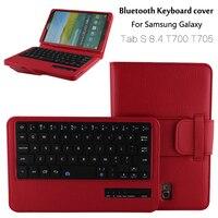 Dla Samsung Galaxy Tab 8.4 T700 T705 S Wymienny Bezprzewodowa Klawiatura Bluetooth Portfel Folio PU Skórzany Pokrowiec Pokrywa + Prezent