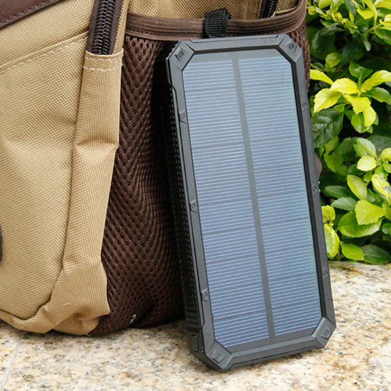 Solar Charger 10000mAh Power Bank Portable Mobile Phone Dual Port Pover Bank Powerbank External font b