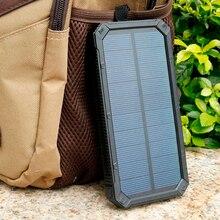 Cargador Solar 10000 mAh Banco Portable de la Energía Del Teléfono Móvil de Doble Puerto Banco Pover Poverbank Powerbank Batería Externa con Luz LED