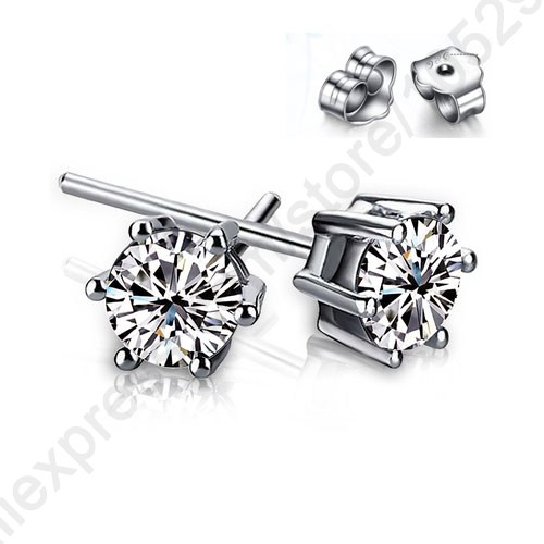 JEXXI Fashionable 6 Claws Cubic Zirconia Crystal 925 Sterlins