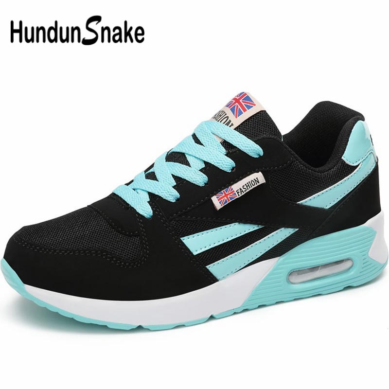 Hundunsnake Breathable Sneakers Woman Sport Shoes For Women Running Shoes Sports Summer Tennis Shoes For Women Black Train B-048