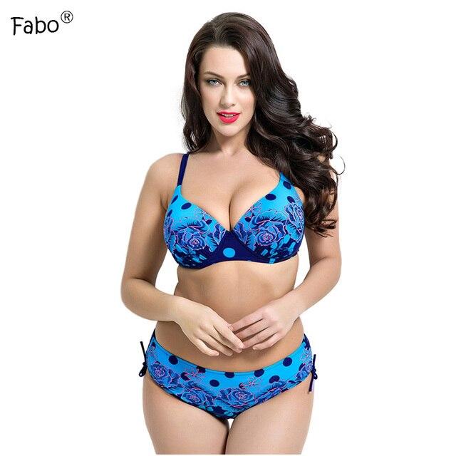 Fabo Bikini Plus Size Push Up 2017 Sexy Swimwear Women Swimsuit Floral  Bathing Suit Top Girl Beach Bikini Biquinis Feminino 0193323f8e8f