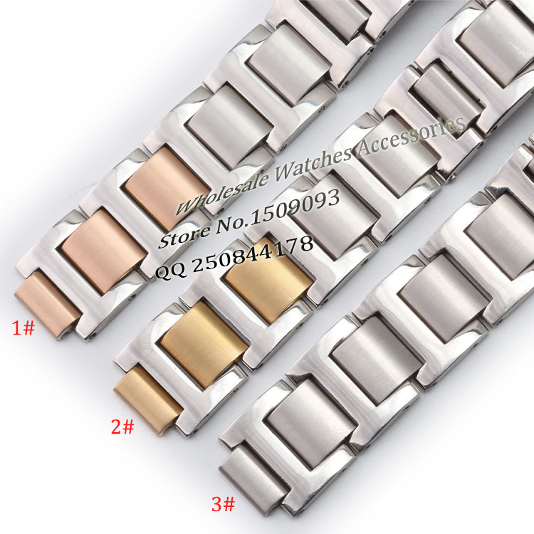 Brand to special convex interface replacement strap 18mm ear 11mm rose gold silver stainless steel bracelet