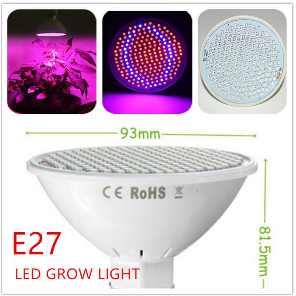 LED Luci a intensità Pianta Coltiva La Luce 200led 60led Full Spectrum E27 Rosso + Blu Fiore Idroponica Veg Crescente Lampade con E27 tavolo di clip