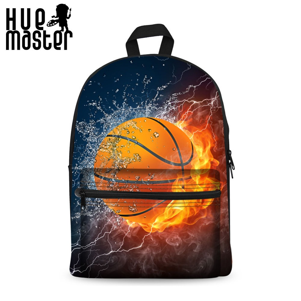 HUE MASTER 3D Ice and fire pattern canvas bag  laptop bag multifunction backpack Thickened built-in velvet quality assurance hue starterkit