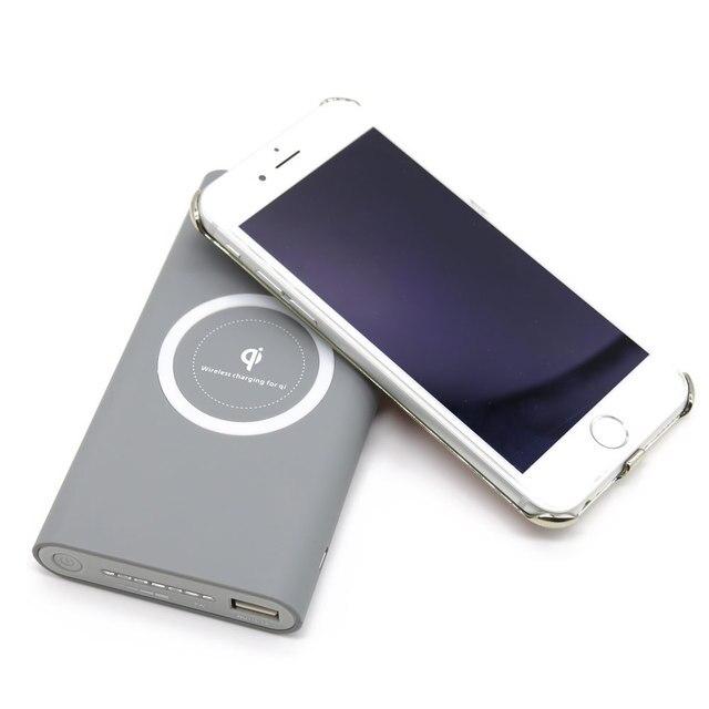 ЦИ БЕСПРОВОДНОЕ Зарядное Устройство Банк 10000 мАч для iphone 6 s samsung galaxy s6 s7 edge Портативный Powerbank Заряд Мобильного Телефона зарядное устройство
