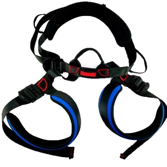 ELUANSHI Outdoor Rock Harness Rappel Safety Belt mountain Climbing holds helmet shoes carabiner equipment rope accessories