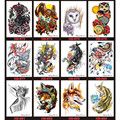 12pcs Temporary Tattoo Sticker Waterproof Body Art Flash Tatouage Transfer Fake Henna Maquiagem Makeup Removable Animal Deaign