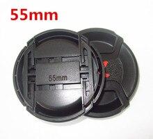 30pcs/lot  40.5mm 49mm 55mm 58mm center pinch Snap on cap cover LOGO for Alpha 55mm camera Lens