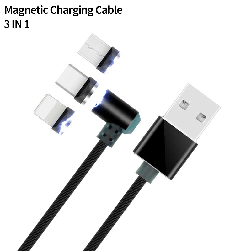 LED Magnetic Charging for Samsung S8 Xiaomi Huawei LG Magnetic Charger for iPhone X 8 7 1M