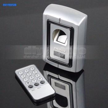 DIYSECUR Remote Control Fingerprint 125KHz RFID ID Card Reader Two In One Door Lock Access Controller Kit F007EM
