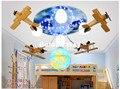 Бесплатная доставка  декоративная потолочная лампа для мальчиков  детская лампа для спальни  освещение для комнаты  E27  деревянная мультяшн...