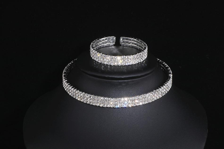 IMG_4756 - Classique, élégant Gland Cristal, Collier De Mariage, Boucles D'oreilles,