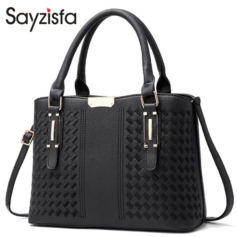 Sayzisfa Brand New Women Handbag Leather 2017 Ladies Fashion Messenger Bag Female office Shoulder Bags Women's Handbags sac T528 2017 new crossbody bags for women candy colors messenger bag brand fashion ladies shoulder bag women leather handbag l4 2616