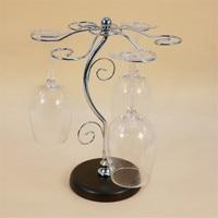 Fashion Wine Glass Rack Home Decoration Modern Living Room Wine Glasses Holder Champagne Stemware Hanging Stand