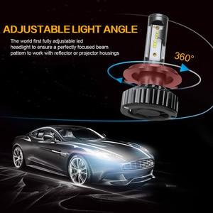 Image 4 - Zdatt H7 LED H4 H1 H11 9005 9006 سيارة المصابيح الأمامية 12000LM 6000K 12V المركبات السيارات الضباب أضواء HB3 HB4 مصابيح مروحة تربو