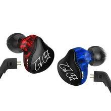 Kz ed12 estilo personalizado cabo destacável na orelha monitores de áudio isolamento de ruído hifi música fones de ouvido esportivos com microfone