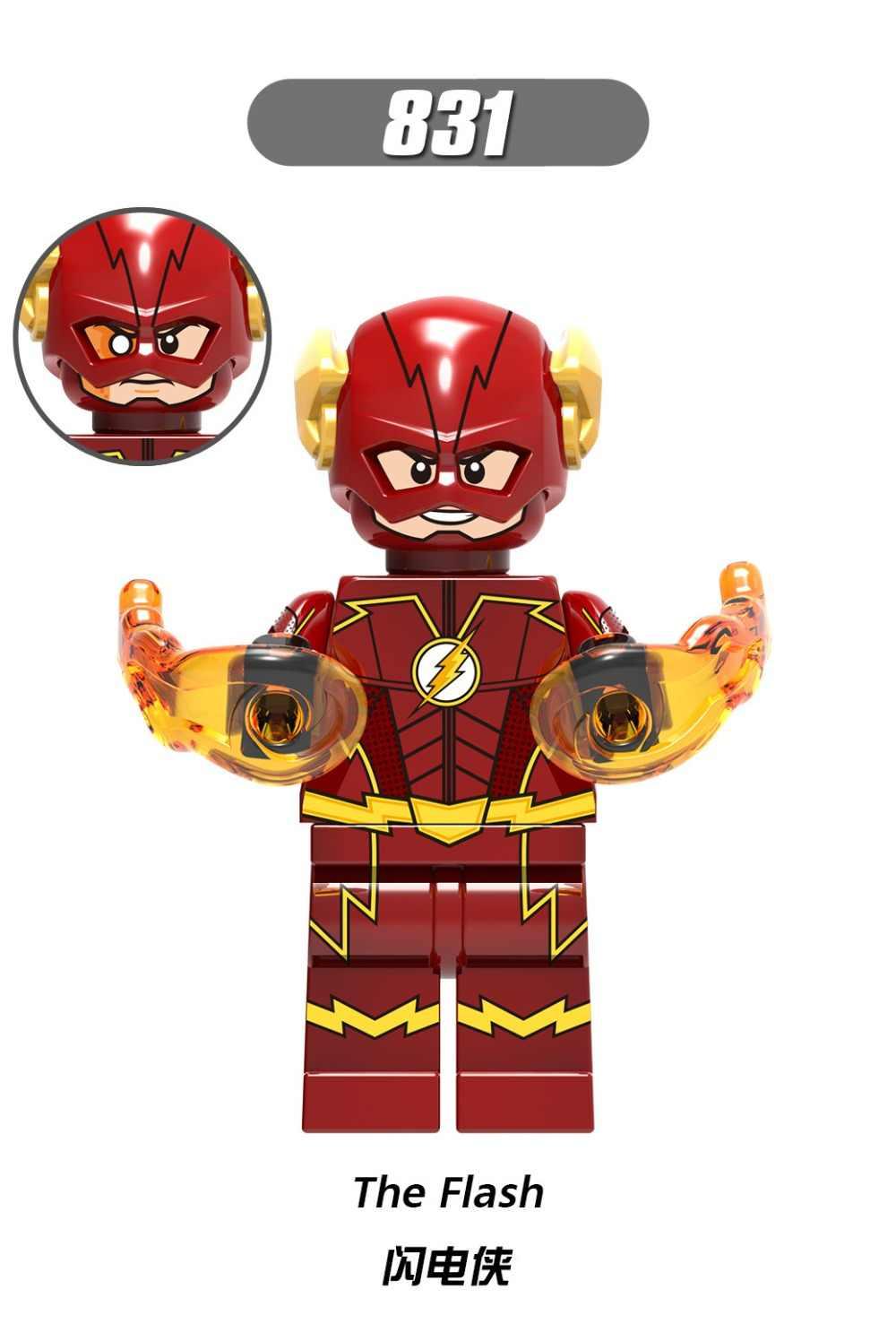 X0188 nhân vật Marvel Hiện Vật 4 Siêu Nhân flash tương thích LegoINGls Bắn Súng Siêu Nhân trẻ em Bộ Xây Dựng Module đồ chơi