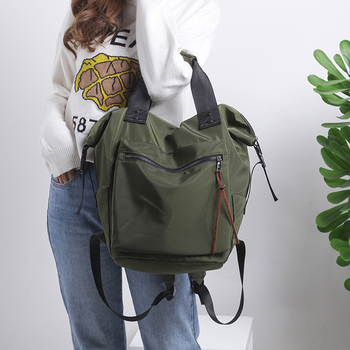 Модный нейлоновый водонепроницаемый рюкзак для женщин, Большой Вместительный Школьный рюкзак, повседневный однотонный дорожный рюкзак дл...