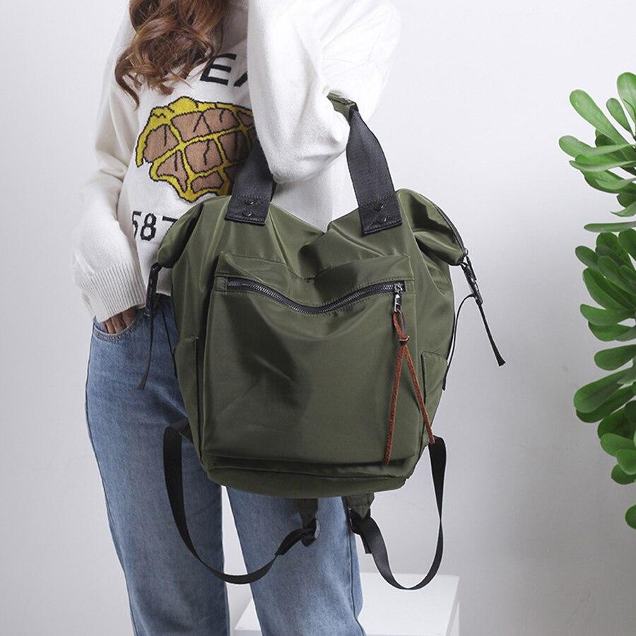 Модный нейлоновый водонепроницаемый рюкзак для женщин, Большой Вместительный Школьный рюкзак, повседневный однотонный дорожный рюкзак для ноутбука, рюкзак для девочек подростков|Рюкзаки|   | АлиЭкспресс
