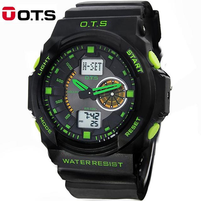 50M Professional Waterproof Quartz Watches men analog digital large dial sports outdoor Luminous wristwatches 2016 fashion OTS