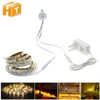 Pir Motion Sensor LED Strip 5050 Waterproof 30LEDs M Warm White Intelligent Sensor Light Control Bedroom