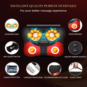 Image 3 - Electric Heating Massager Relief Neck Waist Shoulder Pain Mother Father Gift Body Massage Butterfly Pillow Home 328 Sale