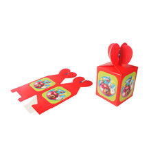 6pcs/lot Cartoon Mario theme party paper candy box baby shower souvenirs gift box kids children birthday party box(China)
