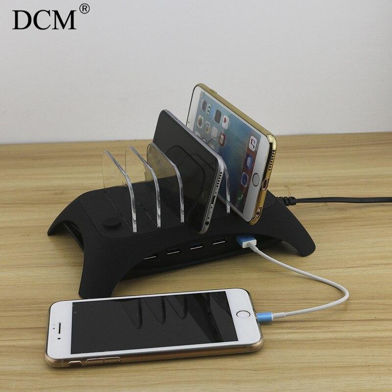 Port universel de chargement de bureau USB amovible 5 ports 2.4 un port de chargeur USB pour tablette mobile pour iphone dg Samsung Huawei