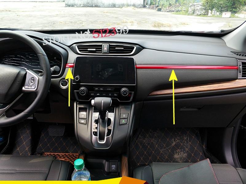 7pcs / set Car Styling , Accessories Interior Middle Decoration Cover Trim for Honda CRV CR-V 2017 2018 for Left Hand drive ветровик rein для honda cr v iii 2006 2012 кроссовер на накладной скотч 3м 4 шт