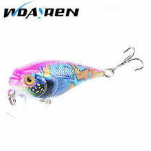 1Pcs 5.5cm 9g Crank Bass Minnow Fishing Lure Colorful Painted Hard Bait 3D Eye 4Color slow sinking Wobbler Fishing Lure FA-388