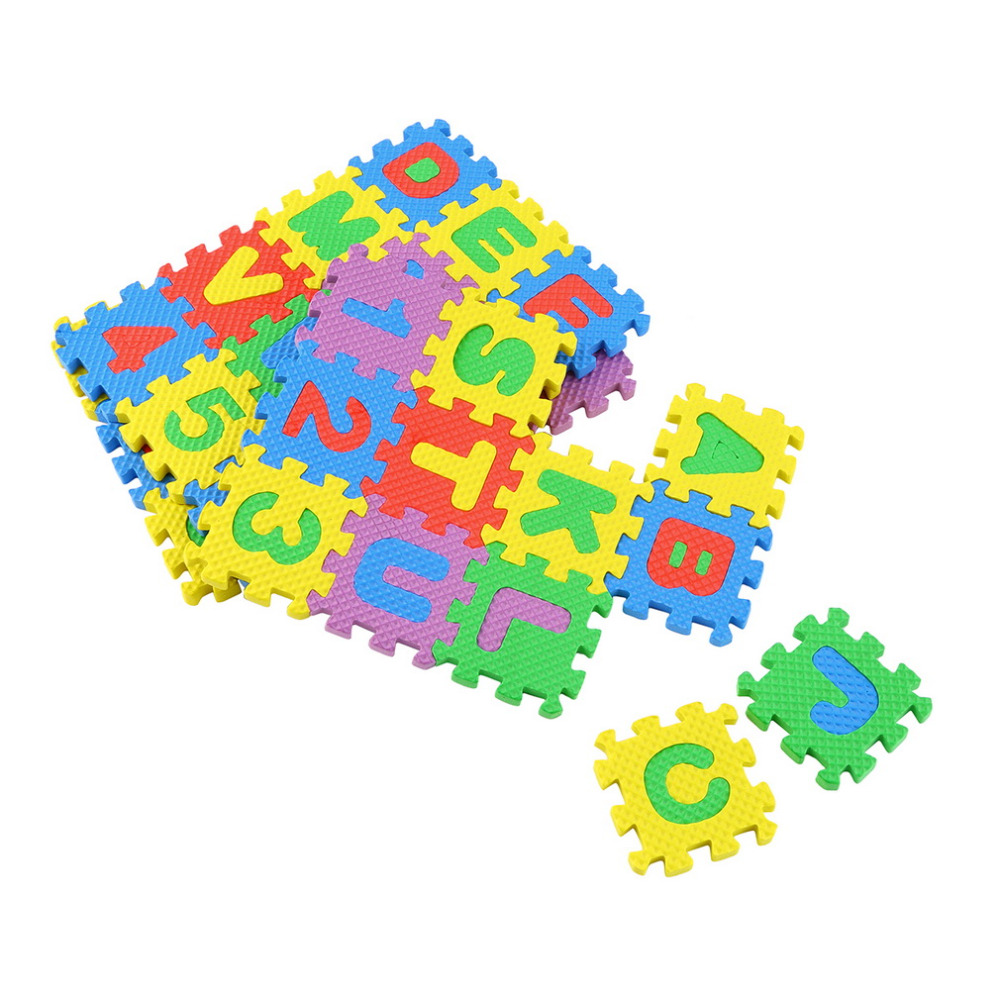 colorful puzzle kid educational toy a z alphabet letters numeral foam mat play matchina