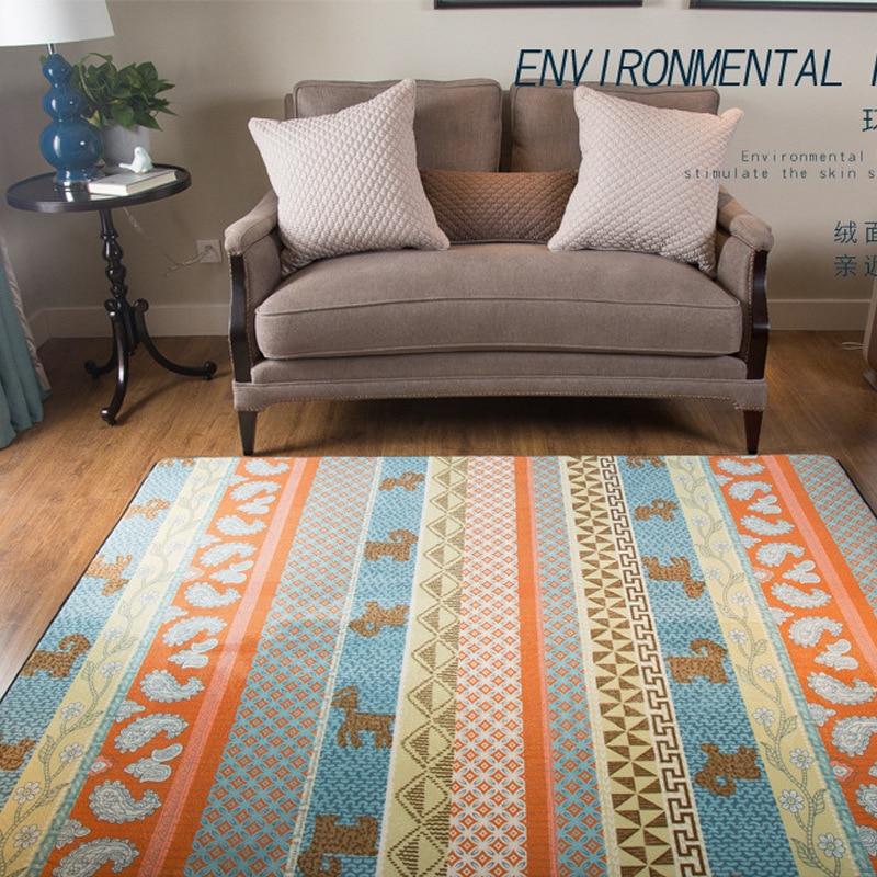 Tapis de sol nordique moderne en peluche tapis de zone ronde pour salon chambre Textile à la maison décor tapis géométriques enfants jouent tapis de jeu