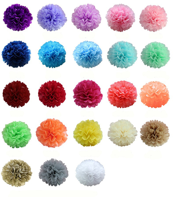 Aliexpress buy 1pcs 10inch 25cm hot sale tissue paper pom 1pcs 10inch 25cm hot sale tissue paper pom poms flower kissing balls home decoration mightylinksfo