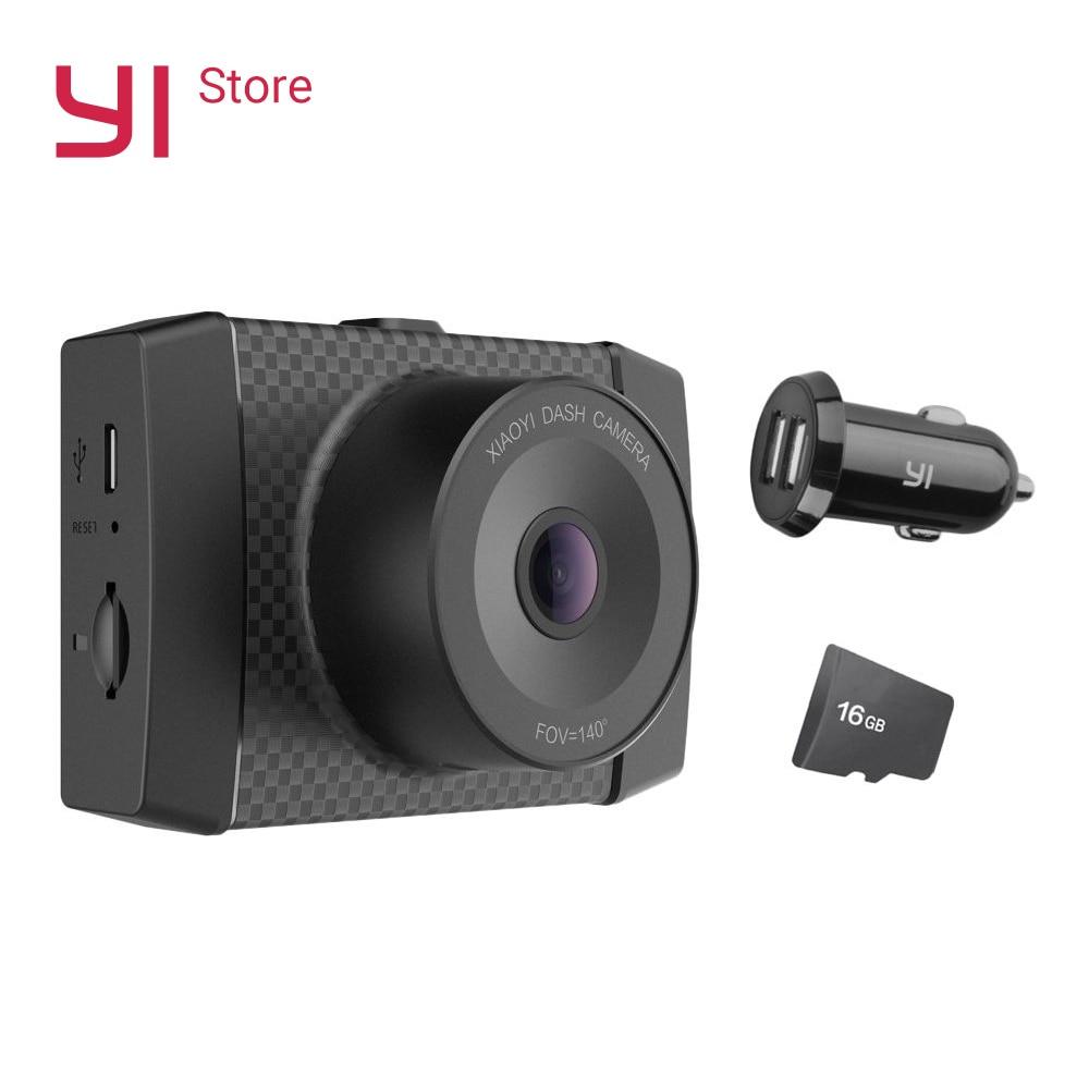 Yi ultra câmera com 16g cartão traço 2.7 k resolução a17 a7 chip de núcleo duplo controle de voz sensor de luz 2.7 polegada widescreen todo-vidro
