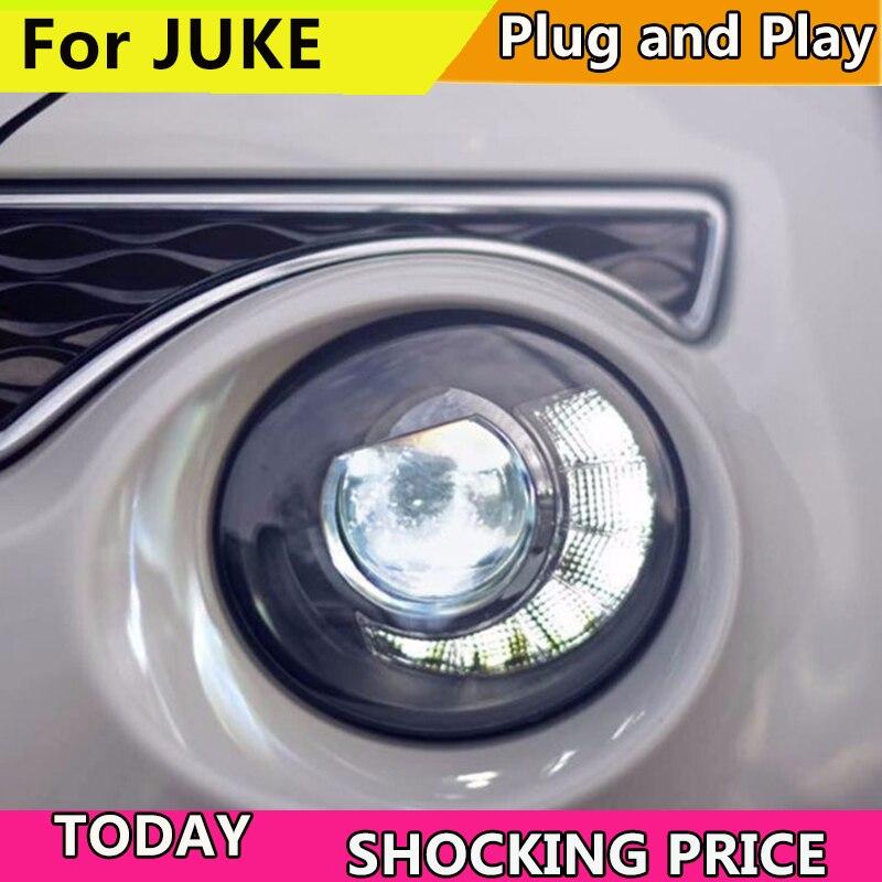 Car Styling for Nissan JUKE headlights 2013 2014 2015-2018 led ESQ headlight Head Lamp led drl projector headlight h7 hid car headlight for car head lamp for peugeot 408 led headlight 2014 2015 2016 head light with xenon hid projector lens and drl