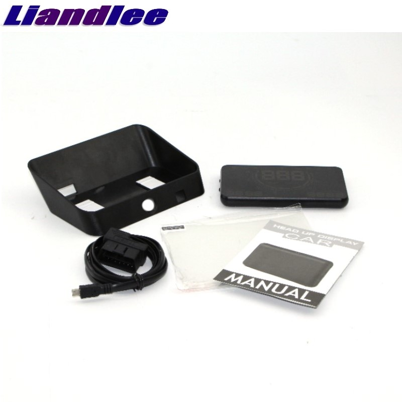 Liandlee HUD For Mitsubishi Space Star Attrage Magna Outlander Airtrek Monitor Speed Projector Windshield Vehicle Head Up 04